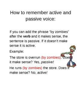 passive voice writing prompts
