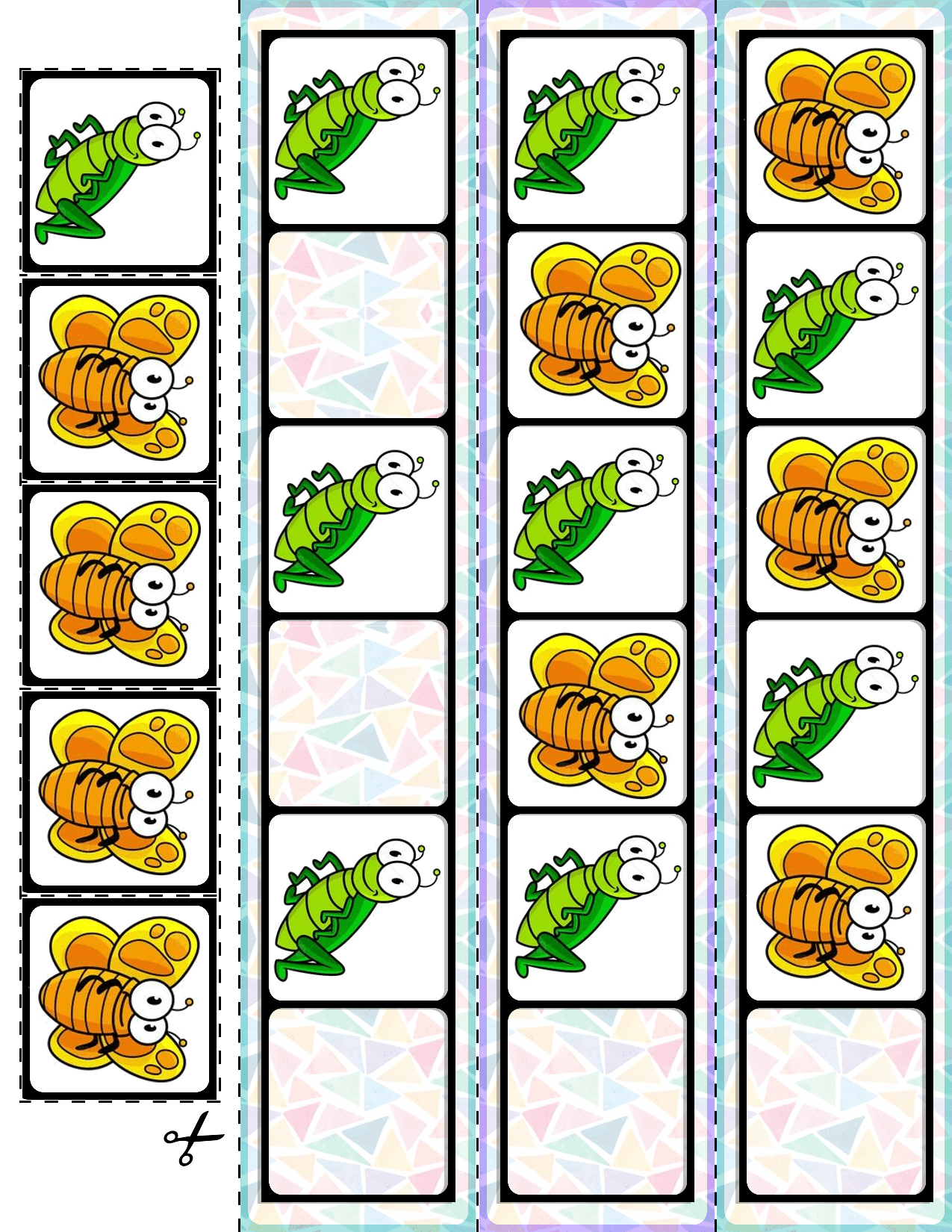 1 Teach Basic Ab Patterns With These Spring Bugs Fill In The Pattern Cards 30 Cards And Super Quick Prep Mat Ab Patterns Preschool Patterns Math Patterns [ 1650 x 1275 Pixel ]