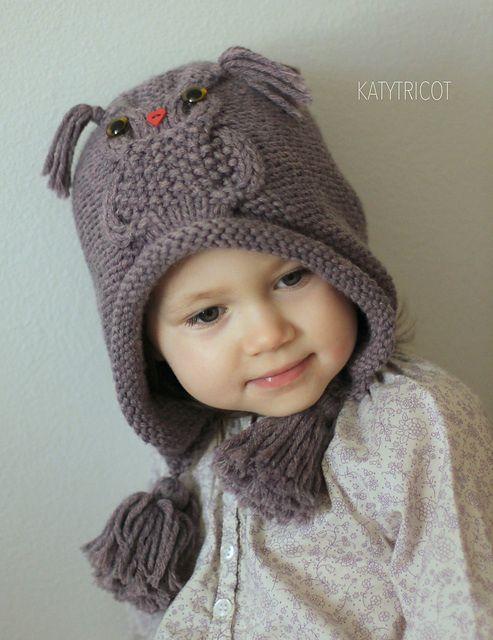 tricoter un bonnet hiboux