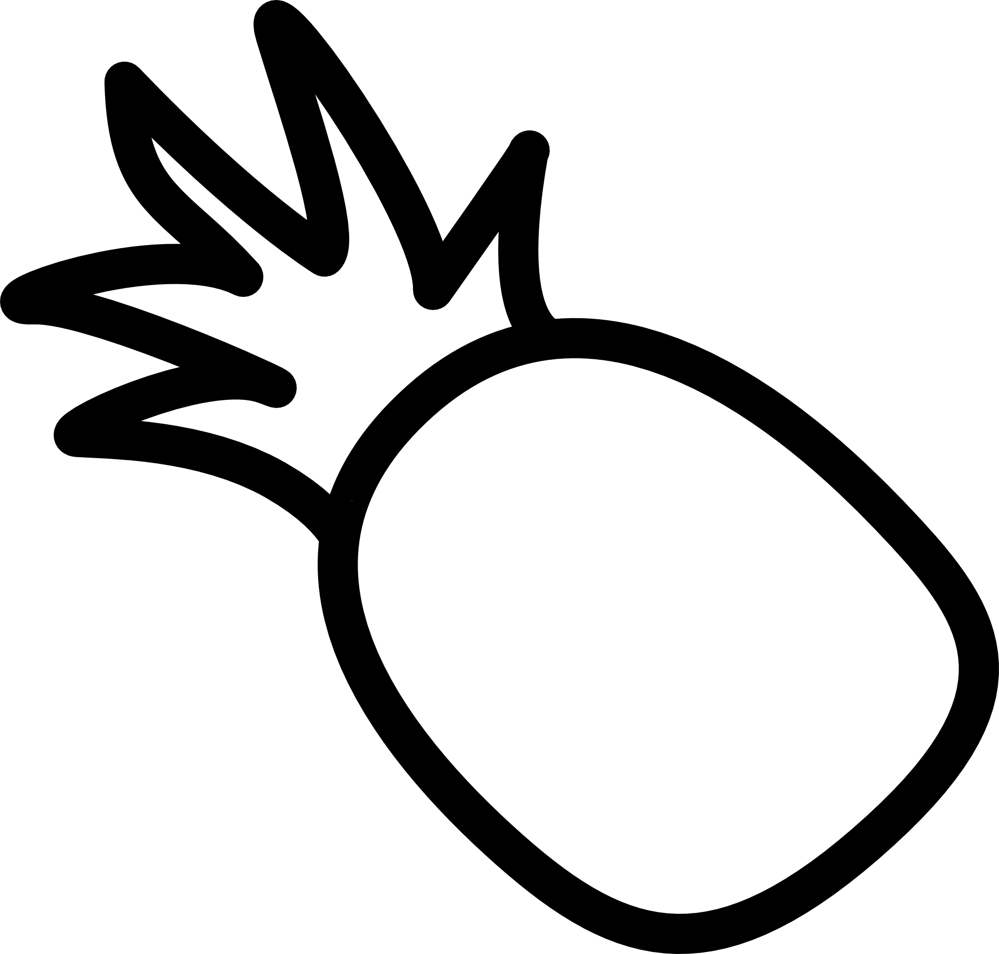 Adobe Illustrator Clip Art | Pineapple drawing, Pineapple ...