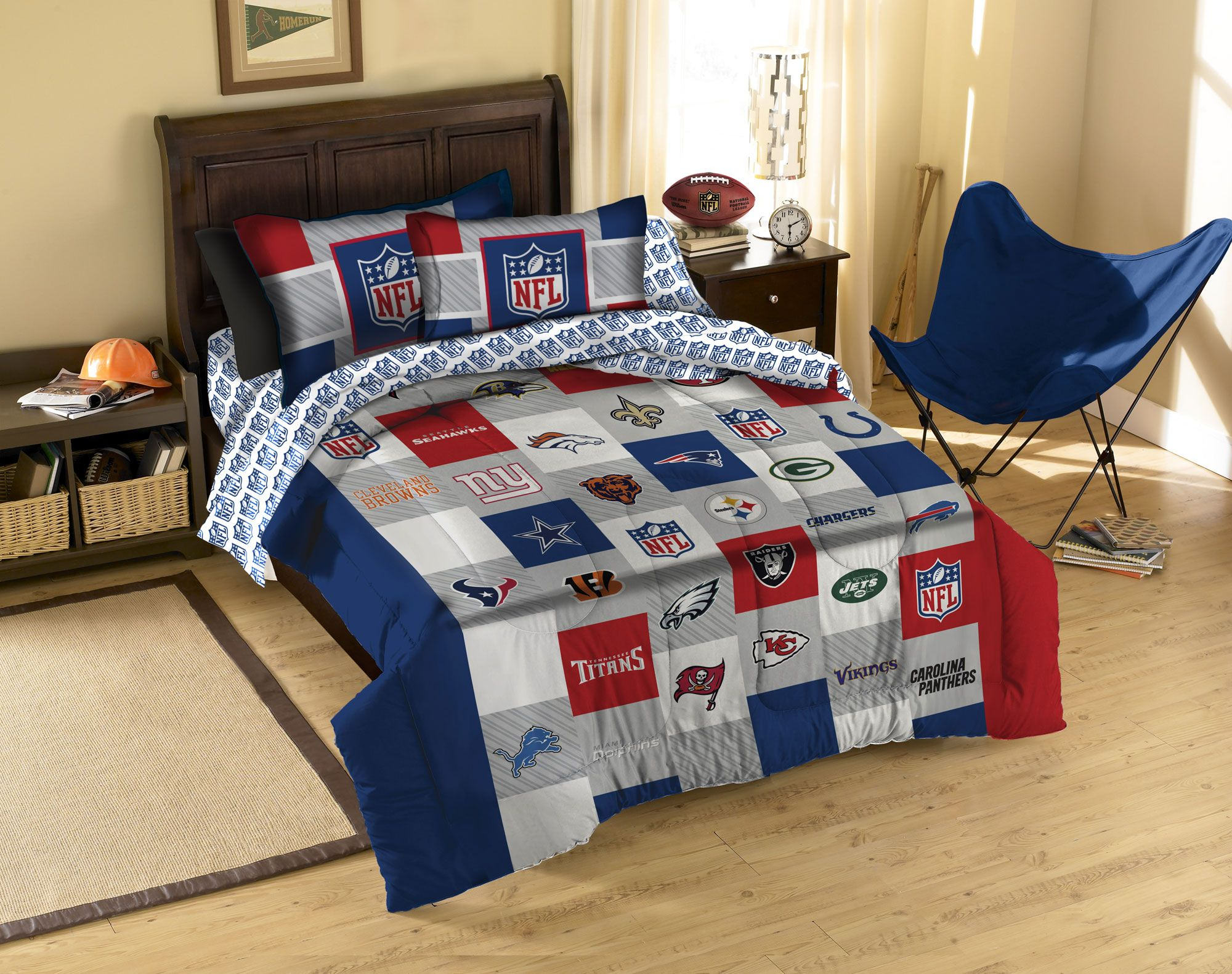 Charmant NFL League Twin Full Comforter Set   3pc Football Teams Bedding