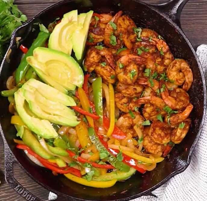 FoodiQueen: Shrimp fajitas #shrimpfajitas