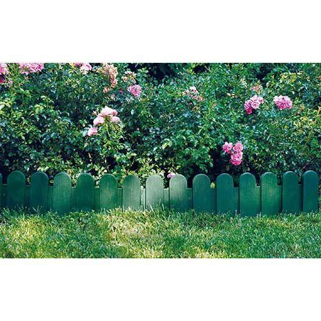 Bordure De Jardin En Plastique Vert H 20 Cm Bordure Jardin