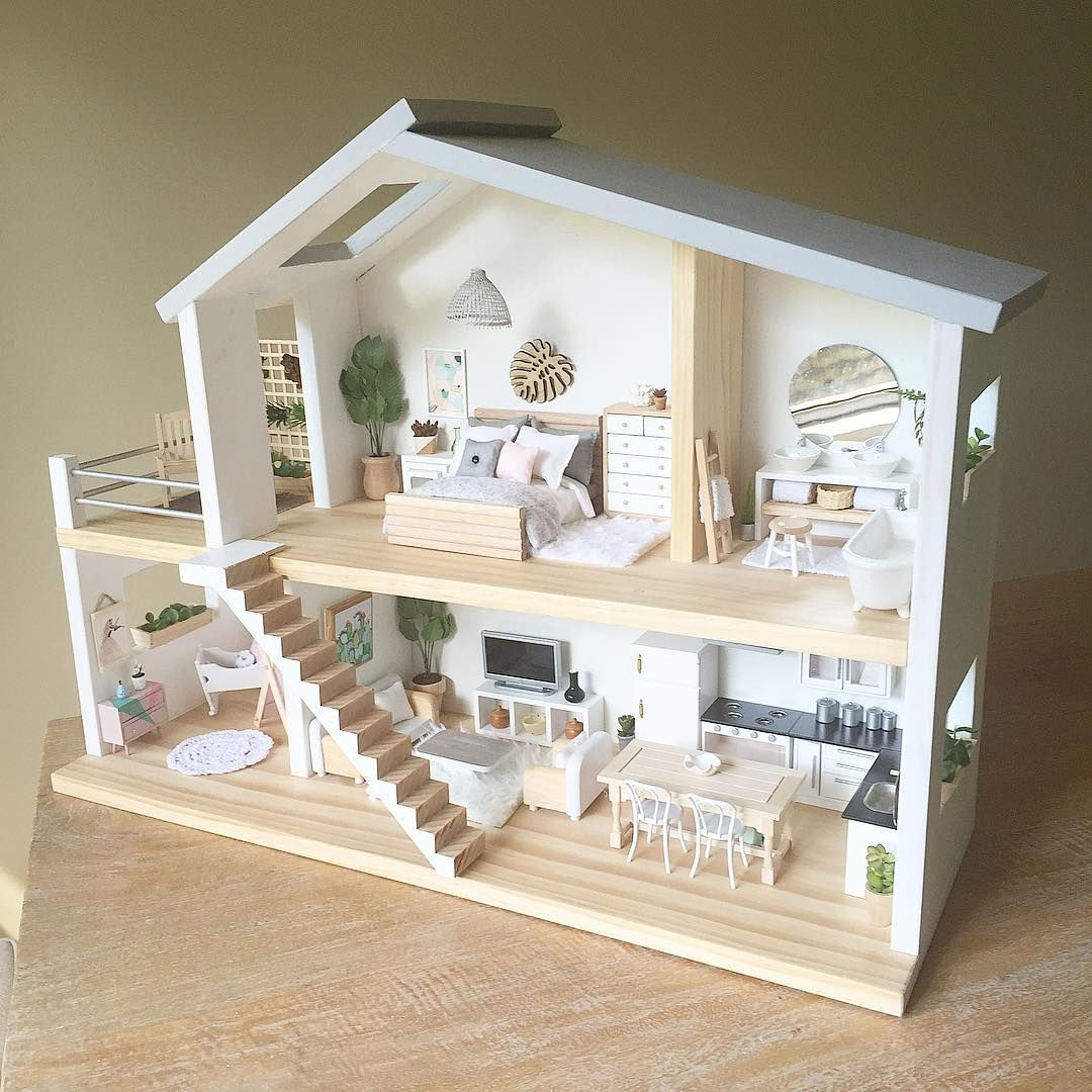 Whimsy woods designs en instagram the whimsy luxe a for Big modern dollhouse