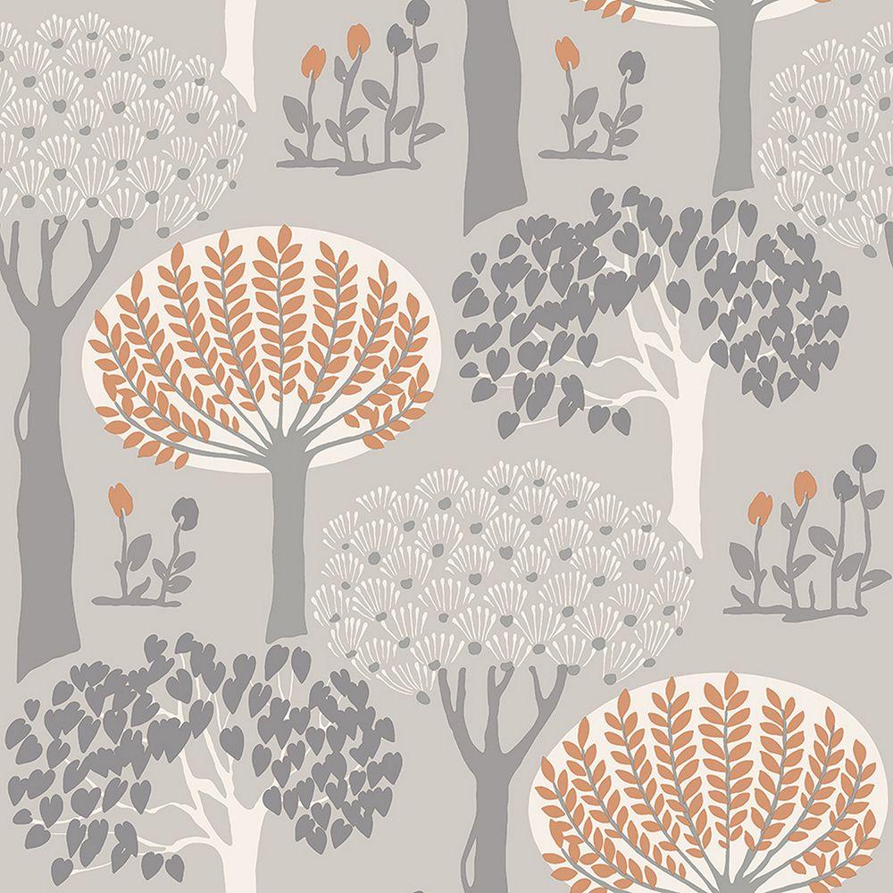 Bernwood Orange Grey Wallpaper By Arthouse Grey Wallp