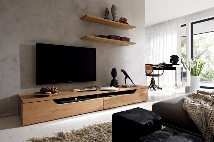 meuble tv design - 23 meubles bas pour moderniser le salon ... - Grand Meuble Tv Design