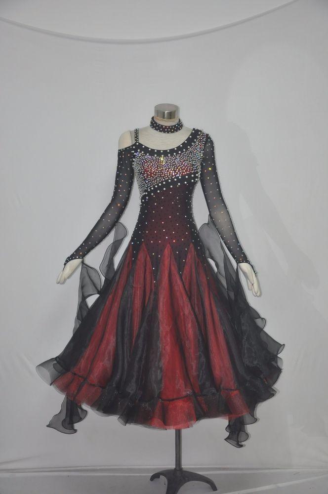Handmade Dance Dress//Standard Ballroom Competition Dress Modern Waltz Tango