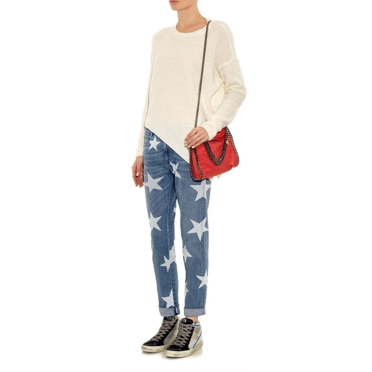 Stella Mccartney Star Print Slim Boyfriend Jeans Boyfriend Jeans