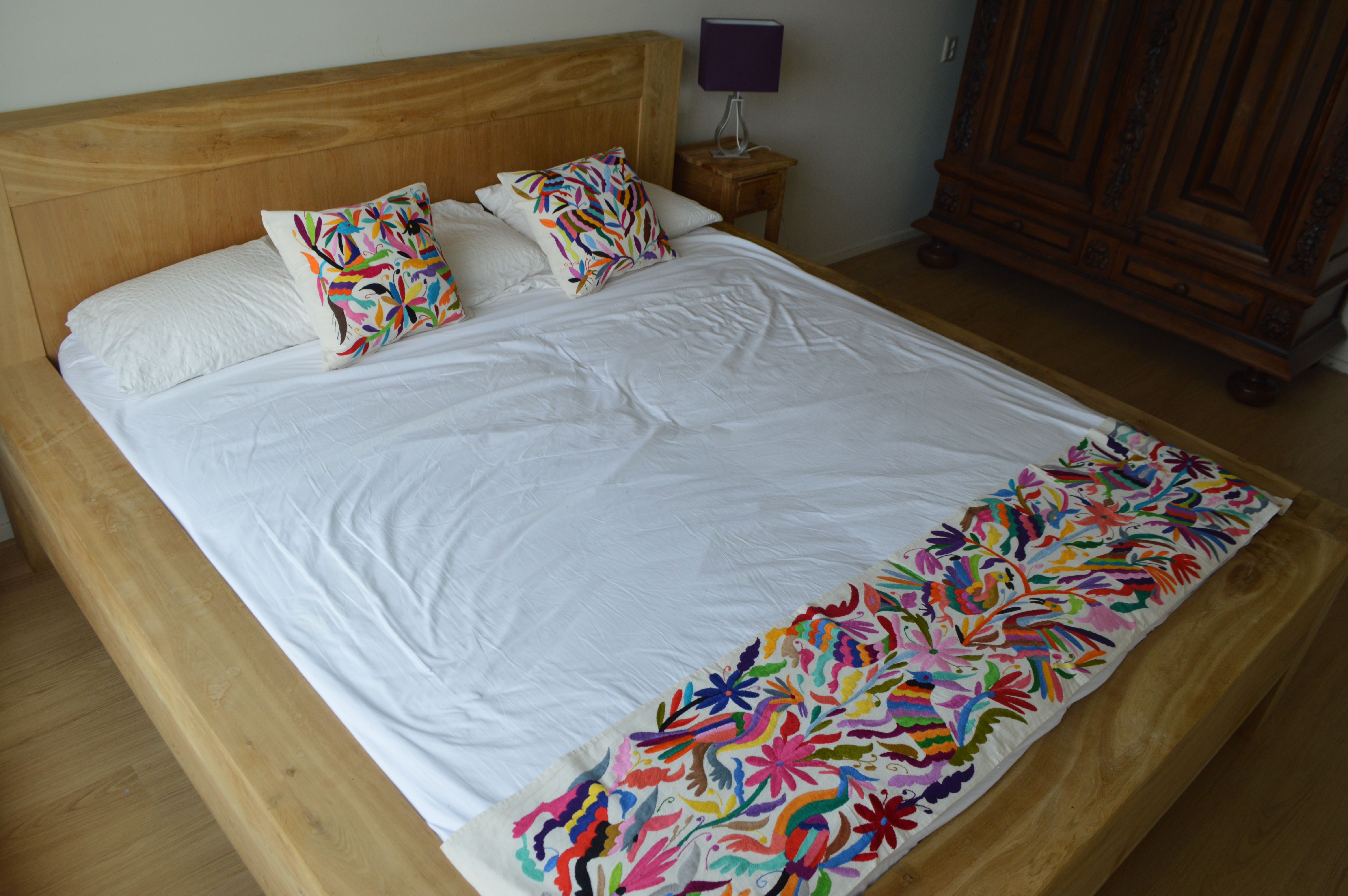 Mexican Bed Runner - Organic Manta Bed Runner - Mexican
