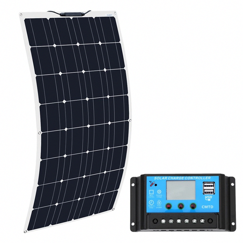 Mpn 100w Solar Panel With Controllerbrand Boguangboguang 16v 100w Solar Panel With Controller 10a Sonnen In 2020 Solar Panels Flexible Solar Panels Best Solar Panels