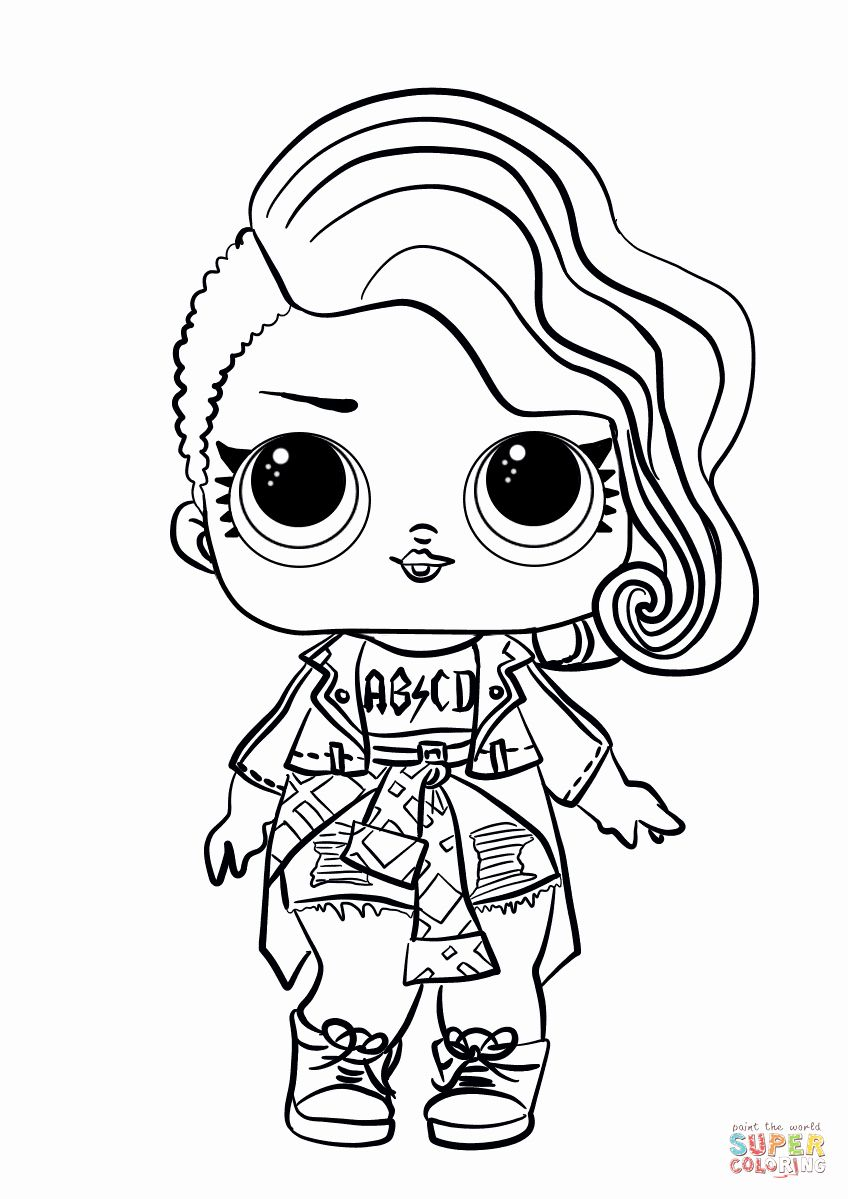 Lol Surprise Coloring Page Best Of Lol Surprise Doll Rocker Coloring Page In 2020 Cool Coloring Pages Lol Dolls Cute Coloring Pages