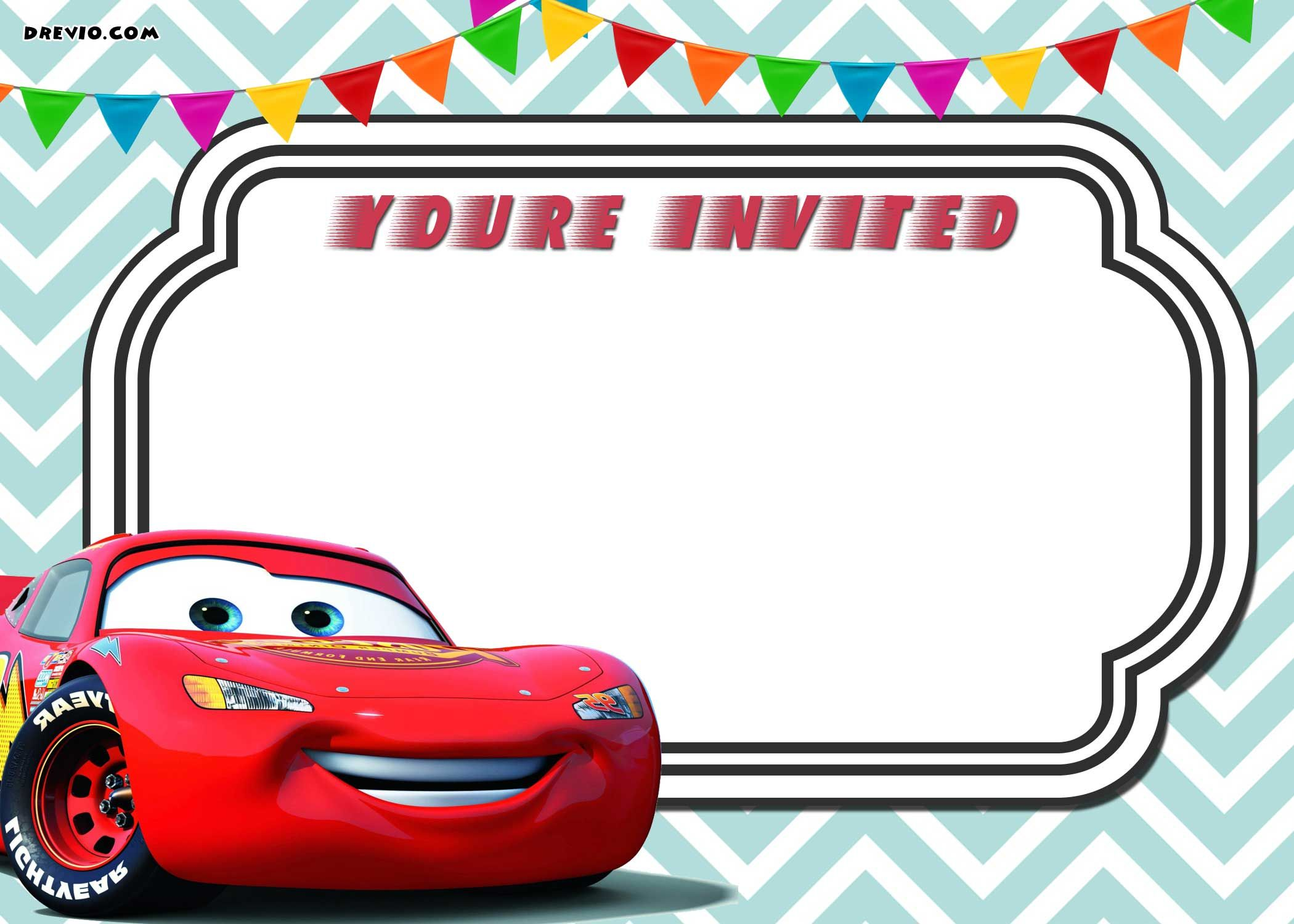 Awesome Free Printable Cars 3 Lightning Mcqueen Invitation