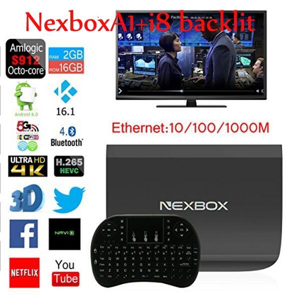 628.00$  Watch here - http://alimdk.worldwells.pw/go.php?t=32760408815 - 10pcs NEXBOX A1 TV Box Amlogic S912 Octa Core 64bit Android 6.0 KODI 16.1 4K 2GB+16GB Smart TV Box WiFi Support DLNA Miracast