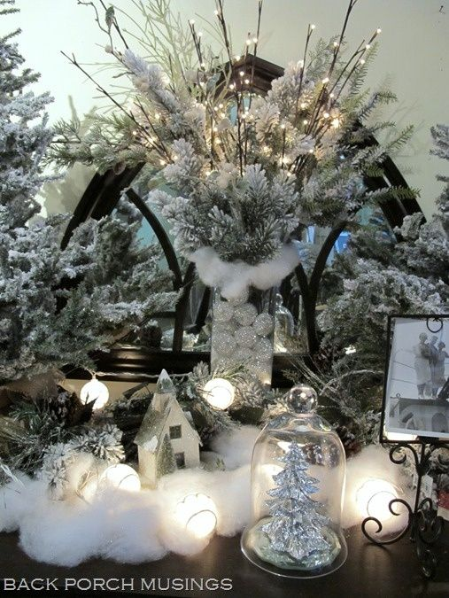 Winter wonderland table decorations white