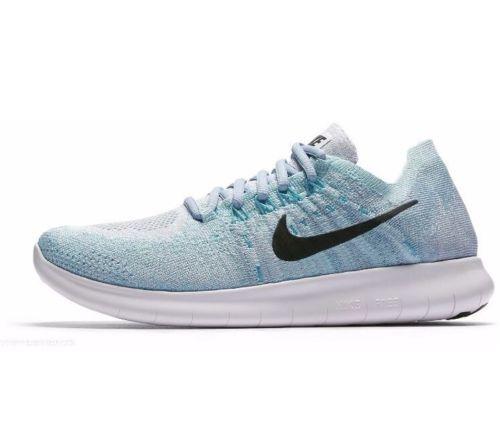 dfb5d0277a Nike Free RN Flyknit 2017 Womens Running Shoes 6 Blue Tint Black 880844 402  #Nike #RunningShoes