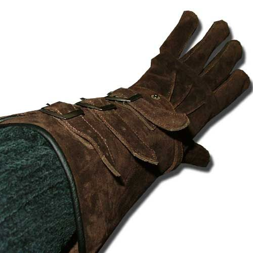 Deluxe Leather Suede Gloves: Deluxe Soft Leather Gauntlet Gloves