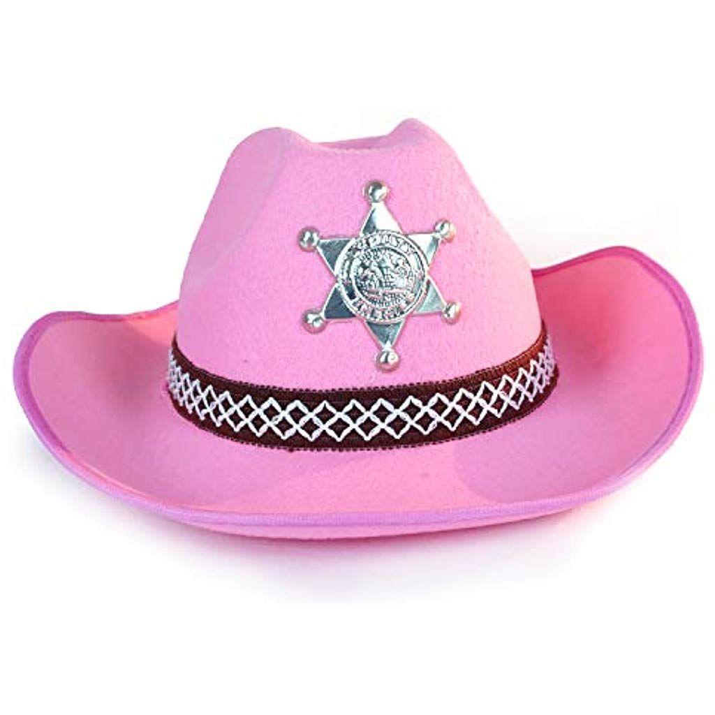 Cowgirl Hat Earrings Western Sheriff Fancy Dress Up Halloween Costume Accessory