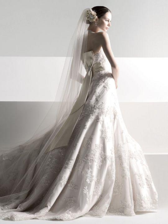 Oleg Cassini Champagne Wedding Dress