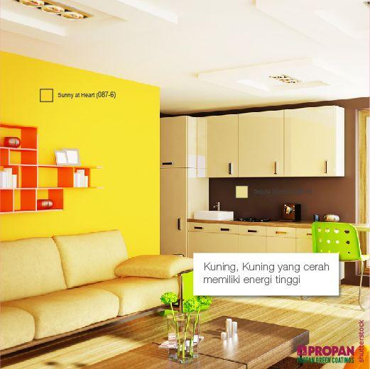 What the Color of Your Living Room Says About You?  Kuning, Kuning yang cerah memiliki energi tinggi yang sama seperti yang kamu lakukan ketika kamu menetapkan pikiran mu pada tujuan. Bener nggak Propanerss