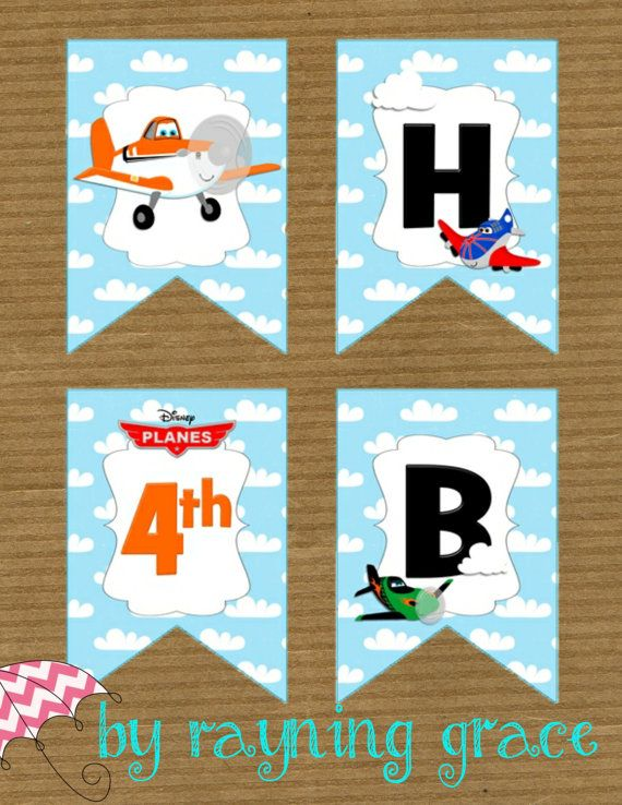 Disney Planes Birthday Banner on Etsy 1200 Partay Pinterest
