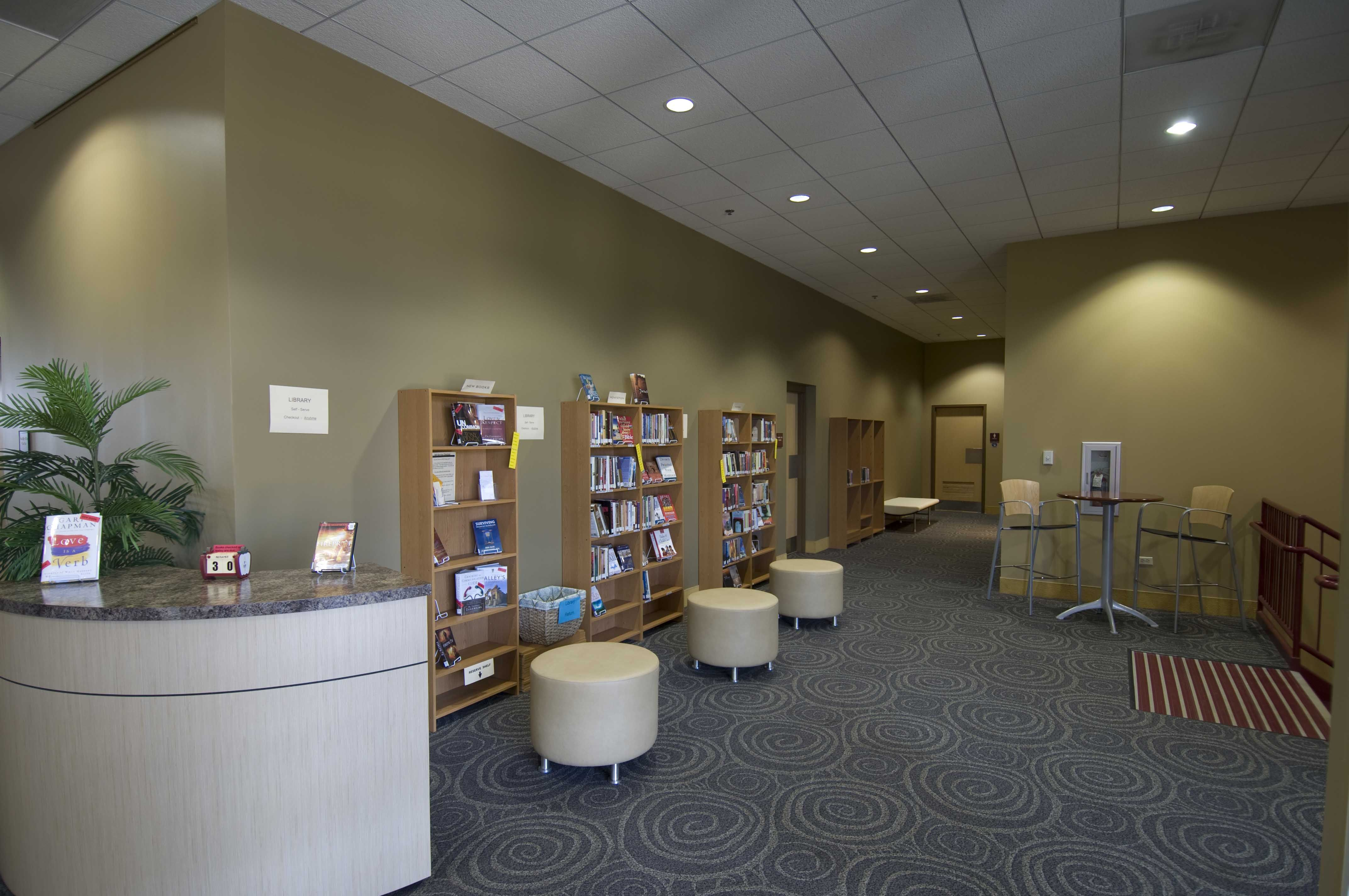 Foyer Architecture Library : Update a church library geneva il lobby