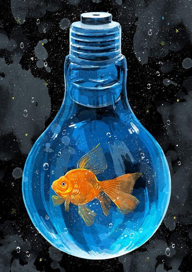 Illustrations おしゃれまとめの人気アイデア Pinterest Margarita Nolasco アートのアイデア 金魚 アート 魚アート