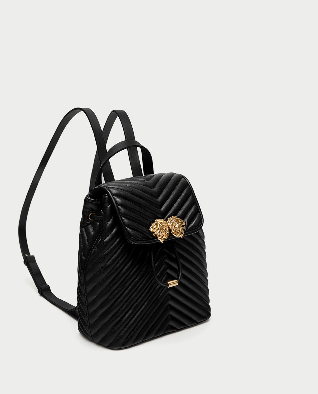 ecb801dcb2 Image 1 of QUILTED BACKPACK WITH LION DETAILS from Zara