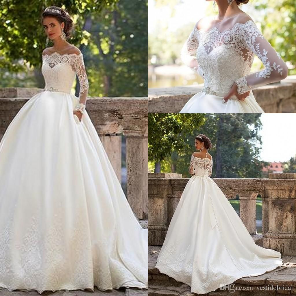 Millanova ball gown wedding dresses long sleeves 2016 off for Long sleeve lace maternity wedding dress