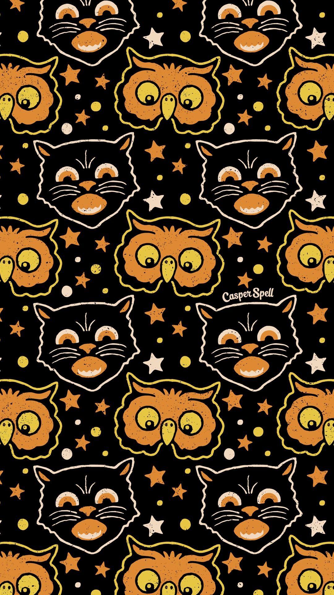 Pin By Miro Parol On 172 Wallpaper 172 Vintage Halloween Art Retro Halloween Halloween Wallpaper Backgrounds