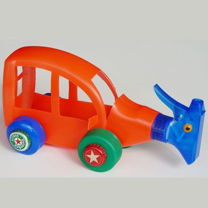 Carro Con Envase Plastico Juguetes Reciclados Recycled Toys