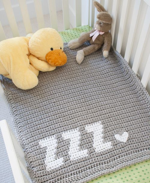 Get Some Zzzs Baby Blanket Free Pattern Beautiful Skills