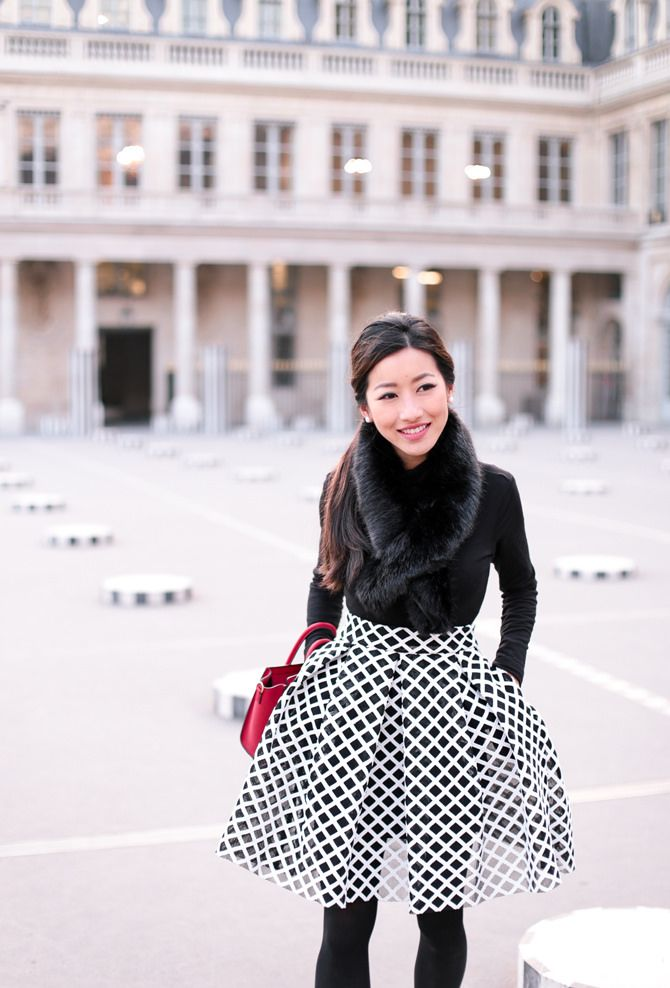 Beautiful @EPStyle wears the Maje Jungle skirt > fr