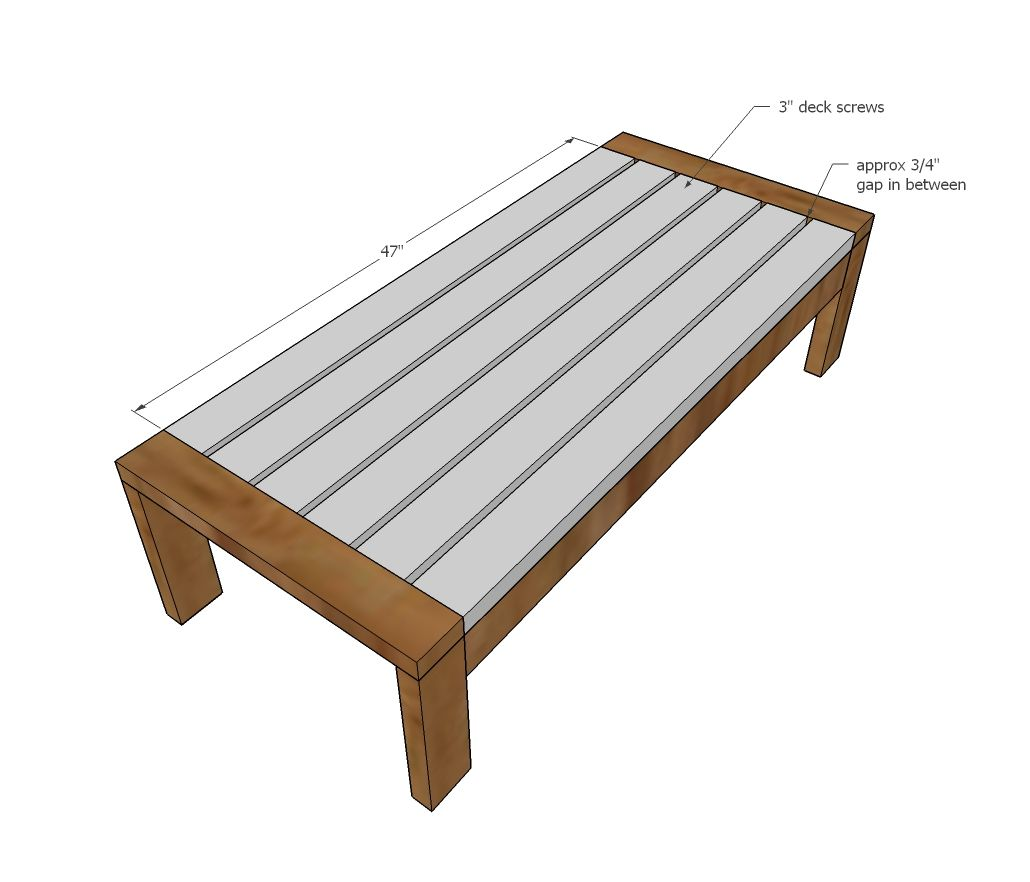 2x4 outdoor coffee table (ana white) | back porch | pinterest