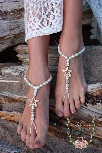 Check out Barefoot SandlesDestination Wedding Foot JewelleryBridal
