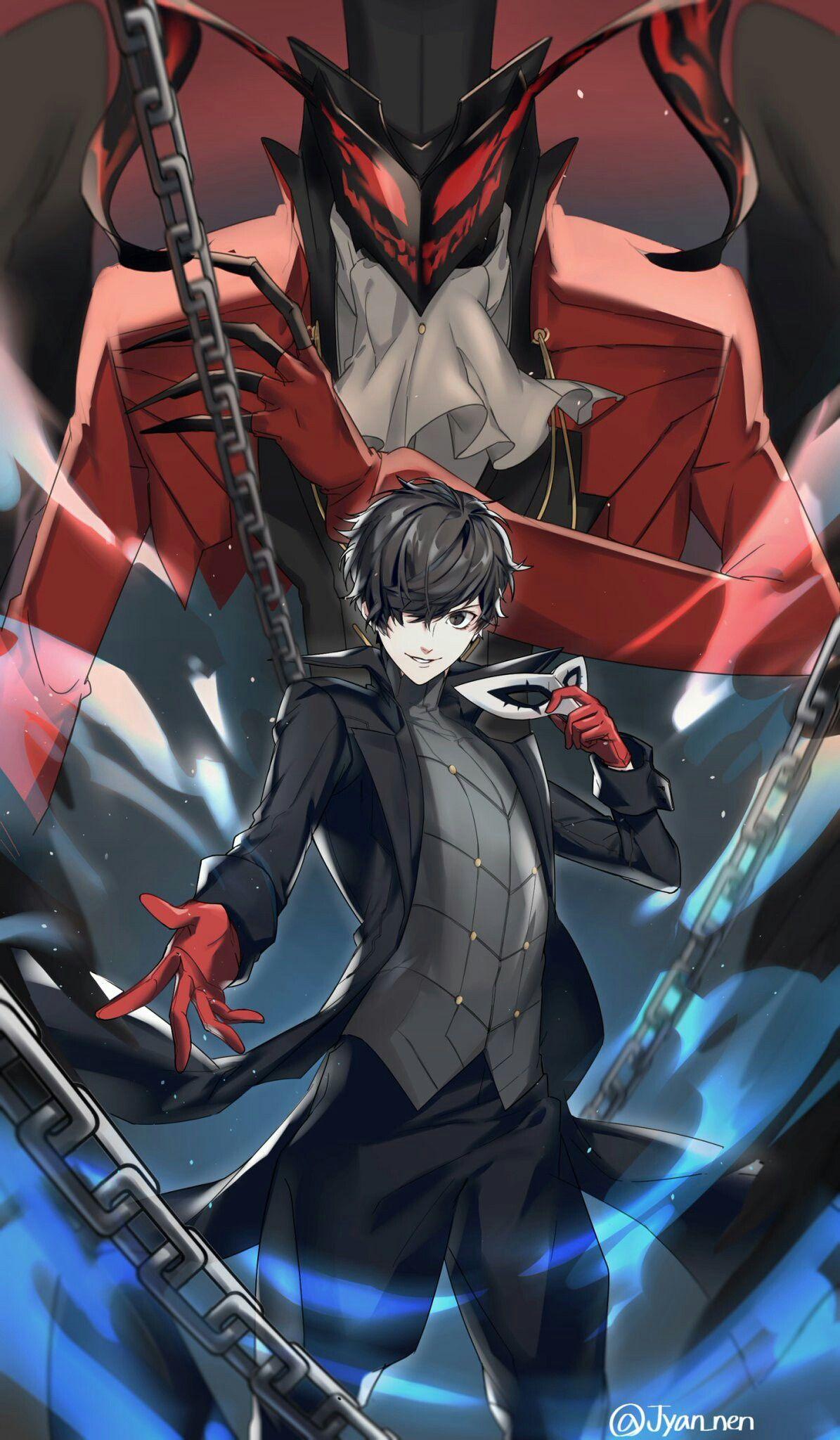 Arsene And Joker Persona 5 Ren Amamiya Akira Kurusu