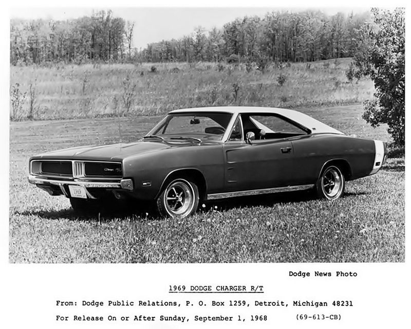 1969 Dodge Charger R T Factory Promo Pic Dodge Charger 1969