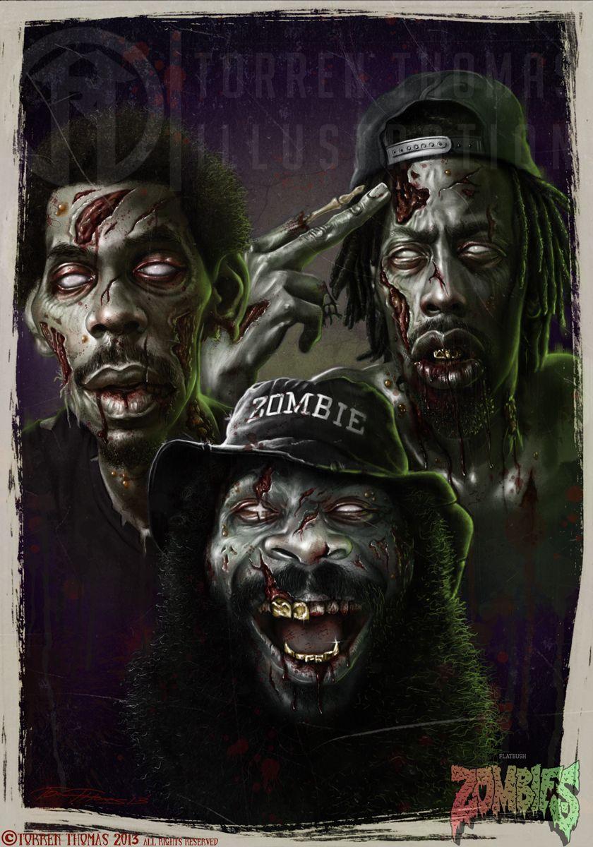 Citaten Kunst Zombie : Flatbush zombiez by torren thomas caricature 2d cgsociety