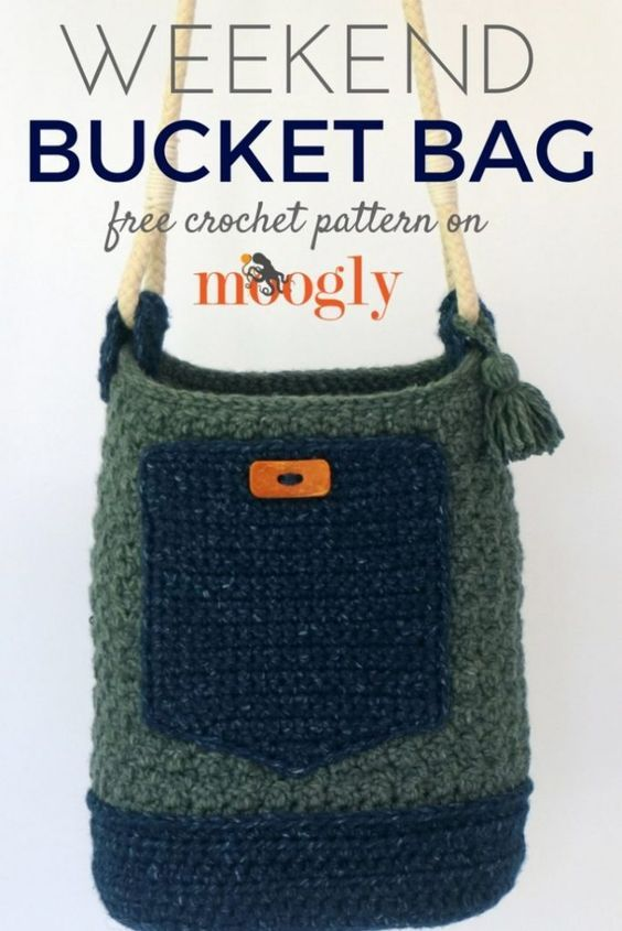 Weekend Bucket Bag Free Crochet Pattern On Mooglyblog