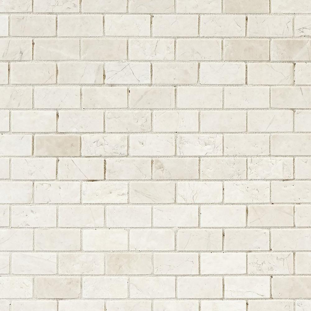 Terra Nuova Brushed Brick Marble Mosaic 12 X 12