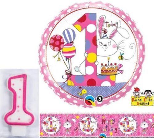Age 1/1st Birthday Bunny Rachel Ellen Foil Banner, 18 Inch Balloon & Number 1 Candle Rachel Ellen Balloons & Party http://www.amazon.com/dp/B00UNS2XVS/ref=cm_sw_r_pi_dp_oOdDvb0827FSN