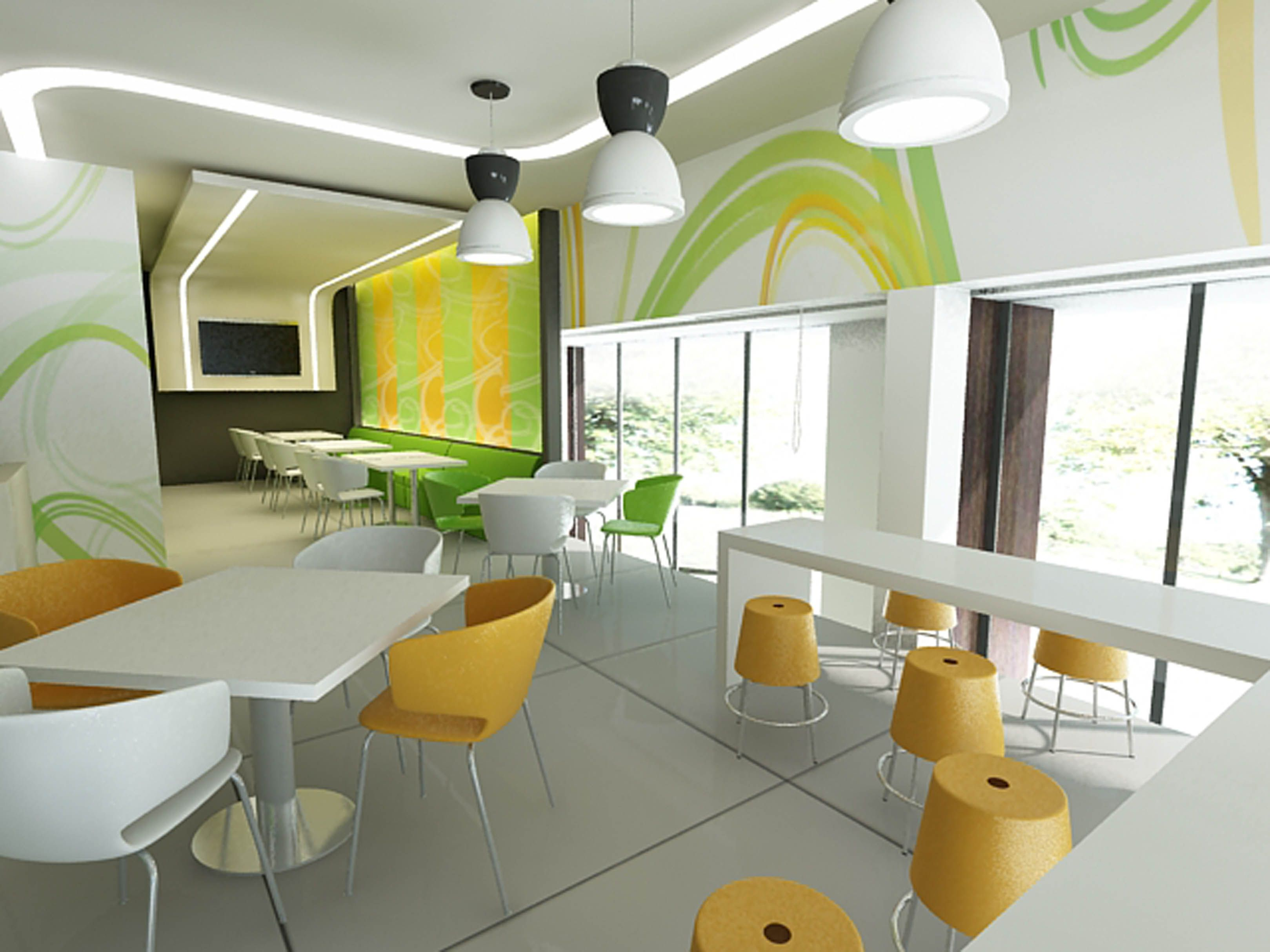 2 Interior Decoration Idea For Fast Food Restrurant 1