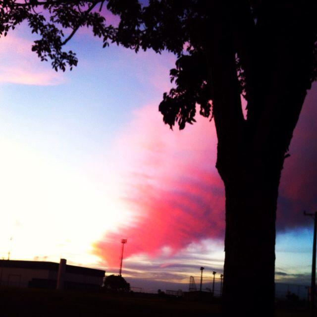 Beautiful sunset in Brasilia