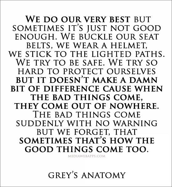 30 Inspiring greys anatomy quotes | Pinterest | Grey anatomy quotes ...