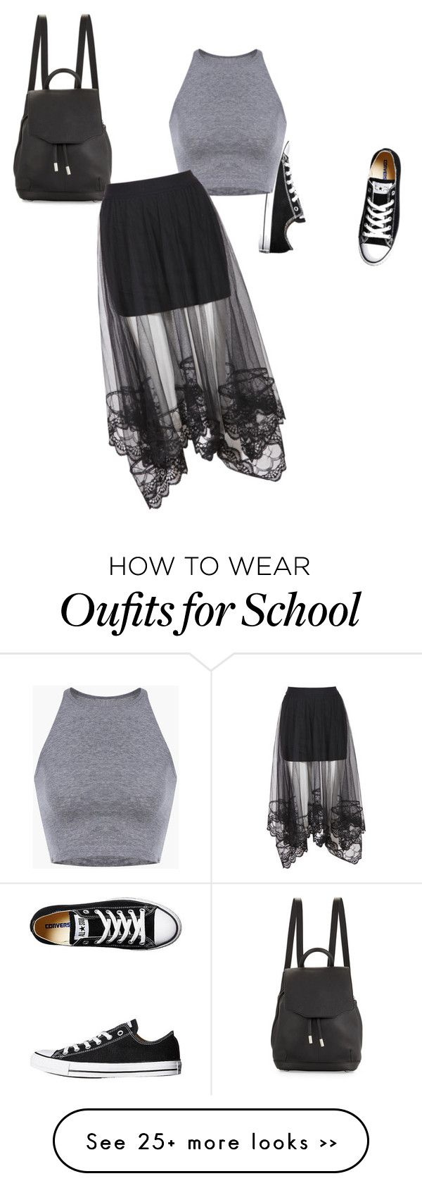 """""""School"""" by lexabloom on Polyvore featuring Converse and rag & bone"""