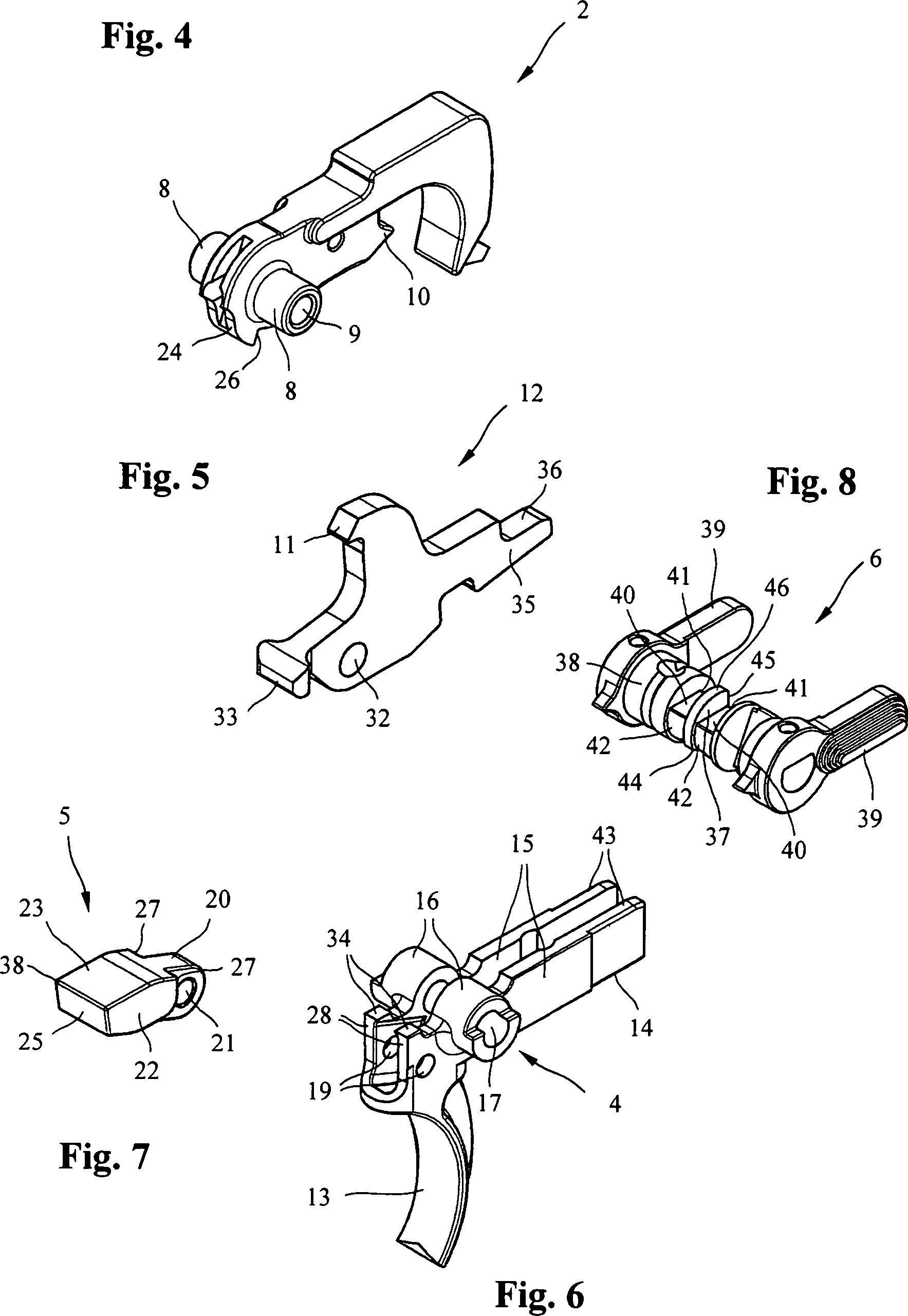 medium resolution of de202011004556u1 trigger mechanism for a handgun google patents