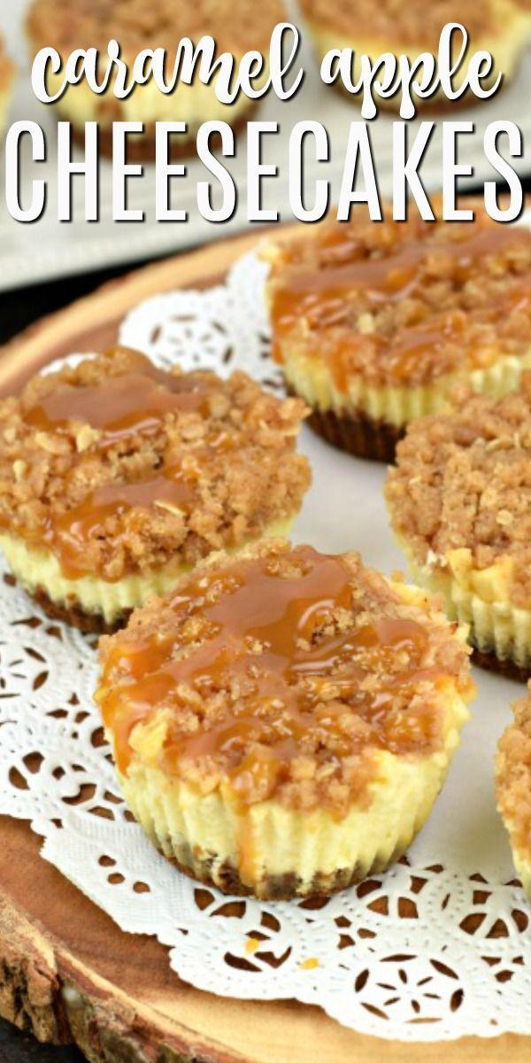 Easy Mini Caramel Apple Cheesecake Recipe - Shugary Sweets