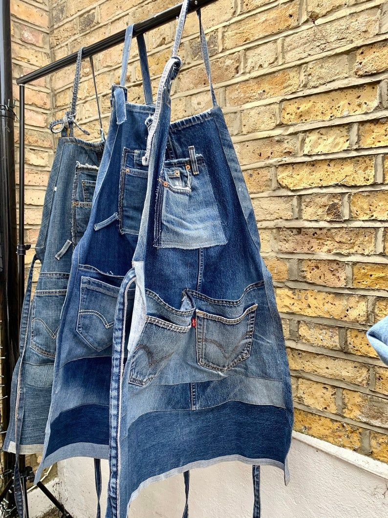 Photo of Handmade upcycled denim aprons for men and wo