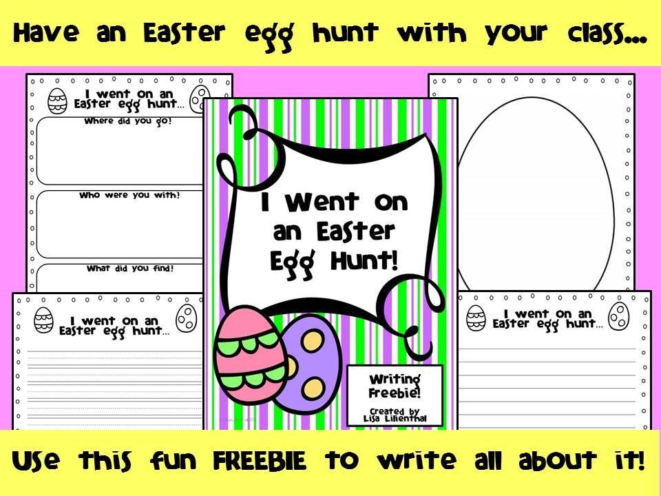 Easter Narrative Writing ~ I Went on an Easter Egg Hunt! {FREEBIE