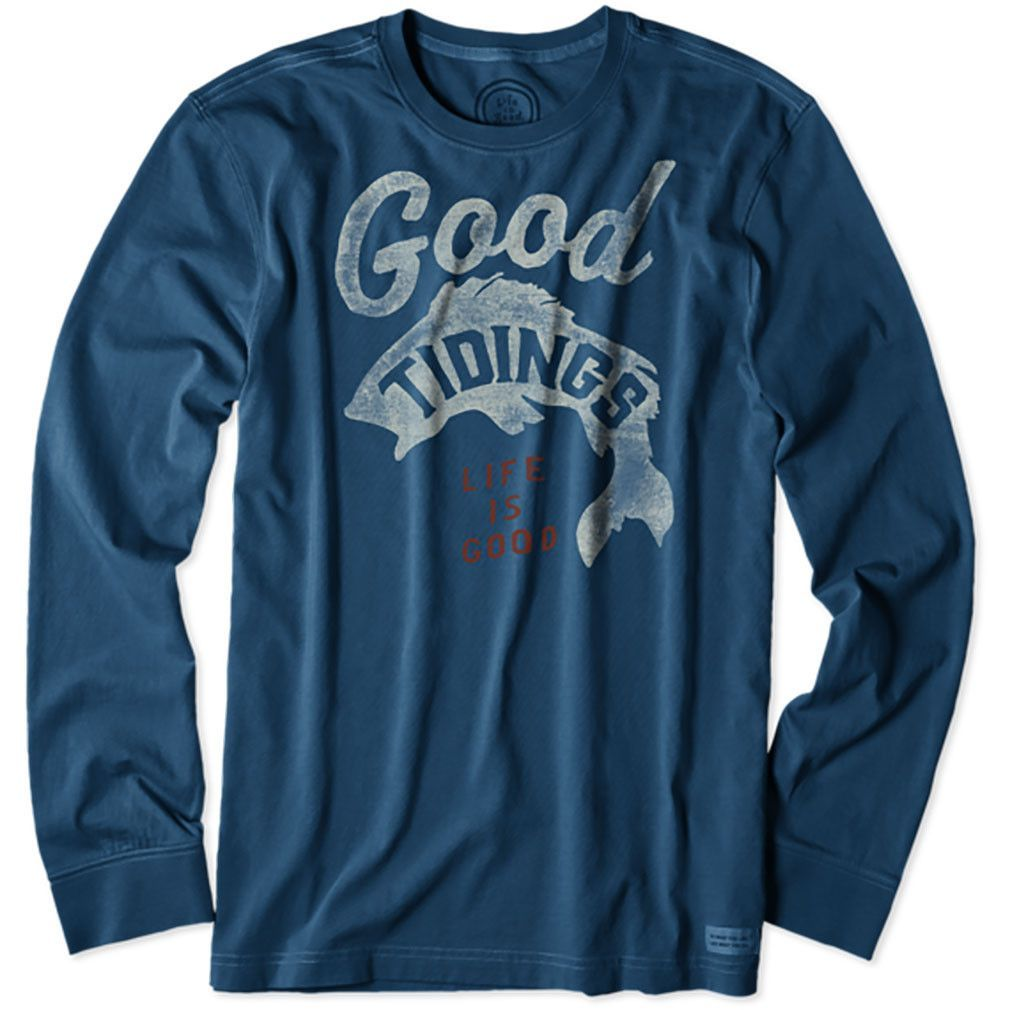 Good Tidings Fish L/S T-Shirt by Life is good