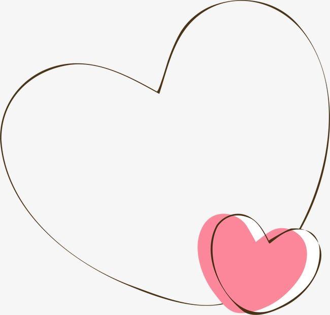 Vector,Cartoon,Hand Painted,AI,Love,Heart-shaped,frame,line,love vector,border vector